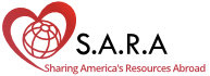 S.A.R.A – Sharing America's Resources Abroad Logo